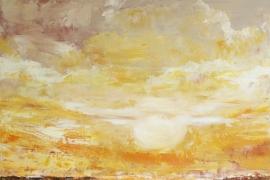Bovenaards | Acryl op doek | 70x70 cm | € 700
