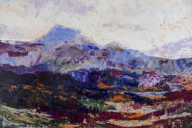 Bergmassief | Acryl op doek | 50x40 cm | € 400