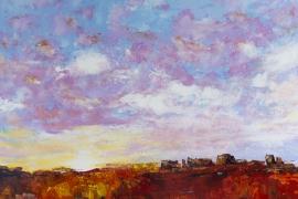 Zonsopkomst voorjaar | Acryl op doek | 80x60 cm | € 650
