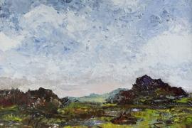 Landschap in vergezicht | Acryl op doek | 50x40 cm | € 400