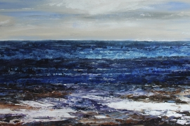 Rolling waters | Acryl op doek | 100x50 cm | € 700