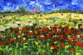 Zomerland | Acryl op doek | 100x70 cm | Verkocht