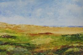 Duinlandschap in de zomer | Acryl op papier | 50x32 cm | €150