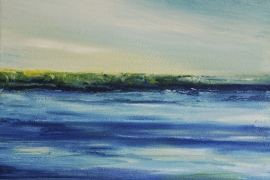 Zeezicht Ouddorp | Acryl op doek | 50x40 cm | € 350