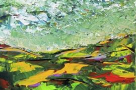Woest en woelig | Acryl op canvasboard | 24x30 cm | Verkocht