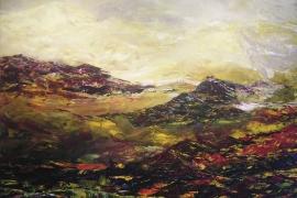 Berglandschap | Acryl op doek | 100x80 cm | Verkocht