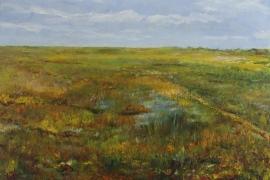 Wetfield | Acryl op doek | 100x70 cm | € 900