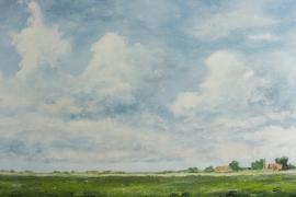 Open polderlandschap | Acryl op doek | 140x70 cm | €1100