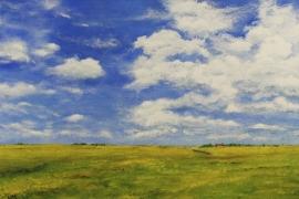 Boven de polder de hemel | Acryl op doek | 100x70 cm | € 800