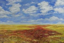 Rode zeekraal in de Kwade Hoek |  Acryl op doek | 100x70 cm | € 800