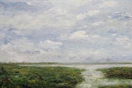 De stille polder | Acryl op doek | 120x100 cm | € 1350