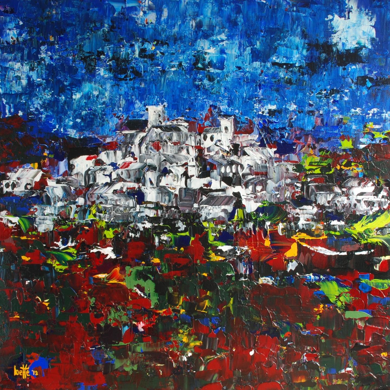 246 - Bergstadje in avondlicht