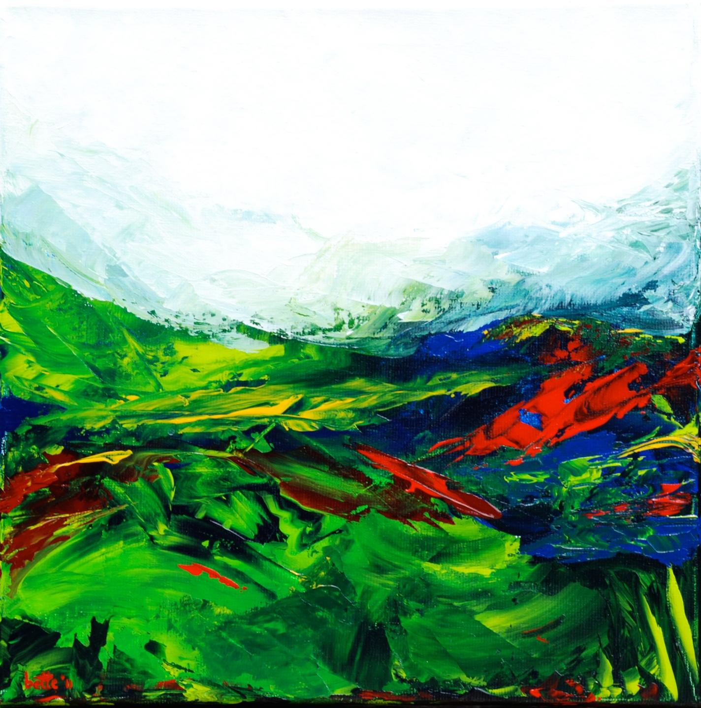 110a - Landschap in seizoenen drieluik