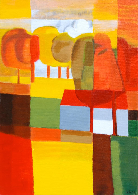 035 - Gele okerachtige bomen