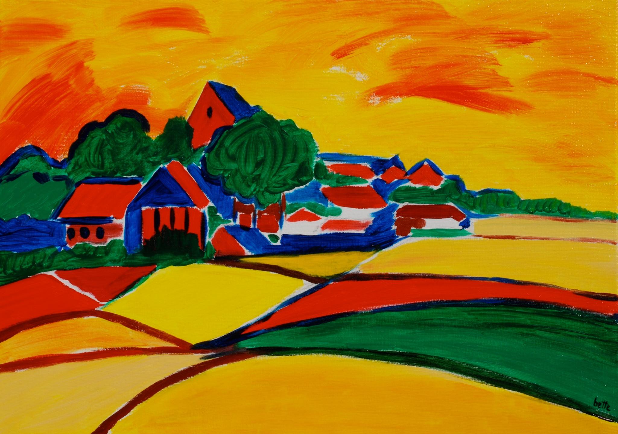 016 - Landschap in vlak en kleur