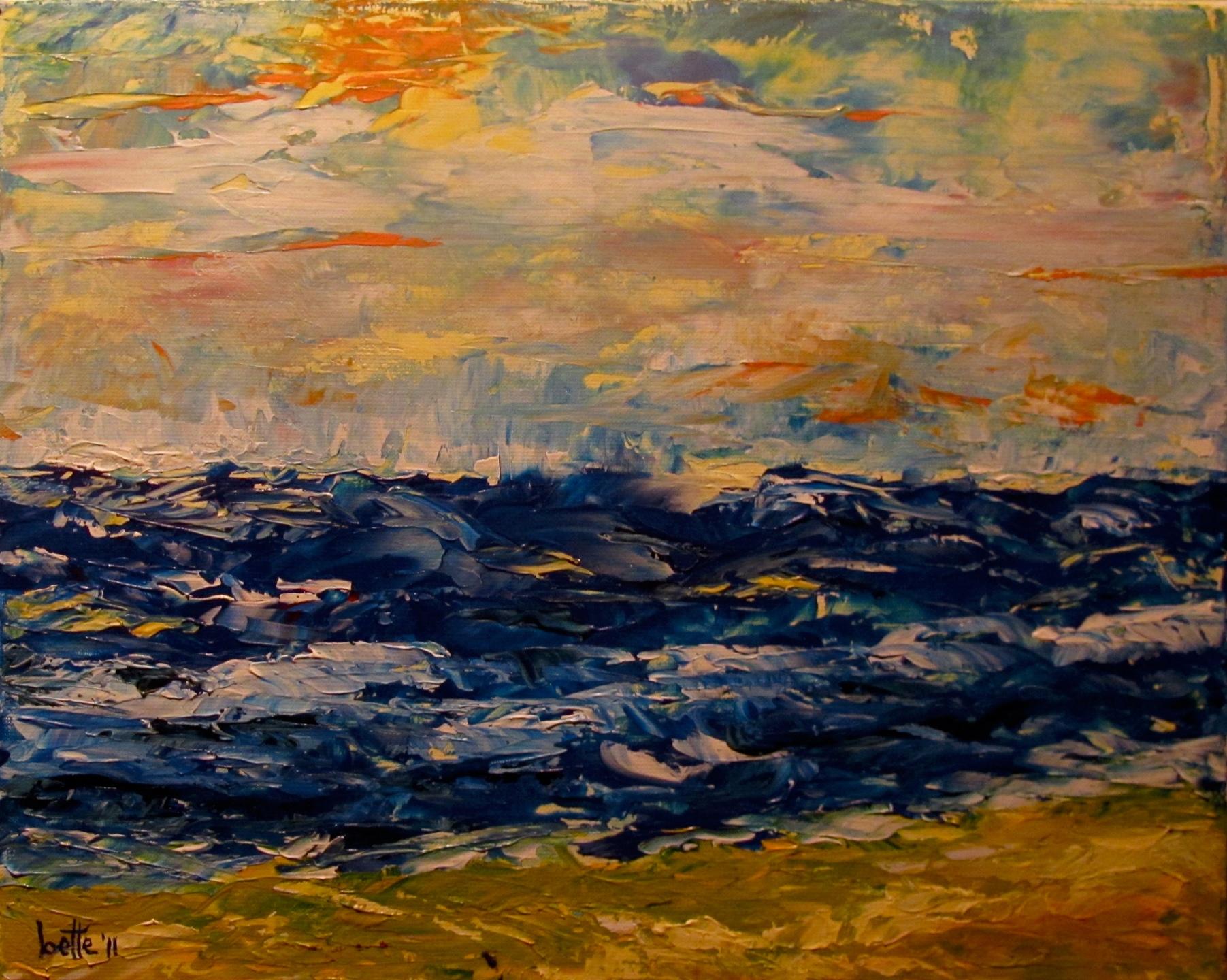 171 - Schuimkoppen op woeste zee