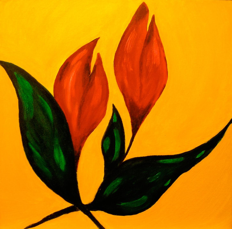 032 - Vlammende tulpen