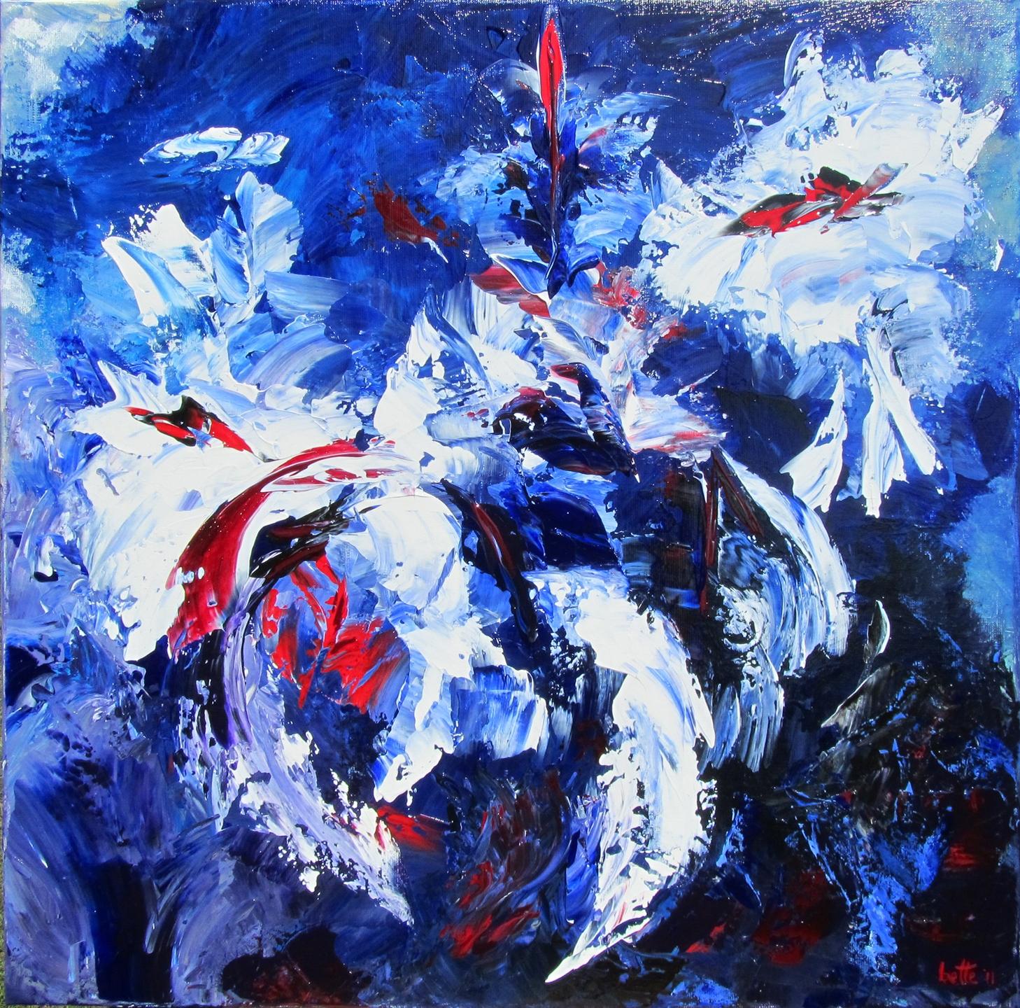 125 - Witte pracht in blauw