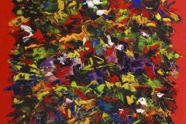 Floriade   Acryl op doek   120x100 cm   € 1100