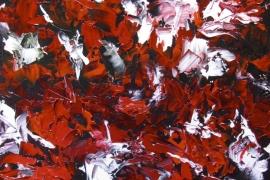 Rode fleur   Acryl op doek   70x80 cm   Verkocht