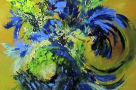 Exotisch   Acryl op doek   100x90 cm   € 800