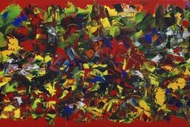 Zonnige zomer | Acryl op doek | 100x50 cm | € 700
