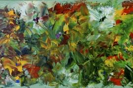 Vrolijk voorjaar | Acryl op doek | 50x100 cm | Verkocht