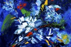 Boeket | Acryl op doek | 70x70 cm | € 600