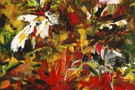 Kleurenpracht 2 | Acryl op doek | 30x40 cm | € 300