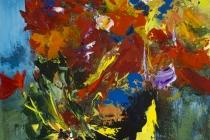Flowerfall   Acryl op doek   50x70 cm   € 500