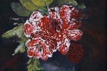 Red roses   Acryl op doek   30x40 cm   € 200