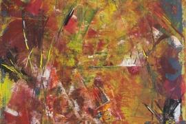 Open deur   Acryl op doek   50x70 cm   € 500