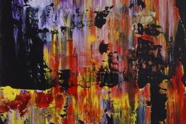 Richterisch   Acryl op doek    30x40 cm   Verkocht