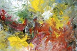 Ontluikende lente   Acryl op doek   100x80 cm   € 900