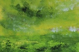 Bespiegeling in de verte   Acryl op doek   30x40 cm   € 250