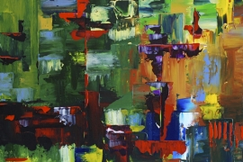Symfonie | Acryl op doek | 70x70 cm | € 750