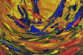 Vrolijkheid | Acryl op doek | 18x24 cm | € 75
