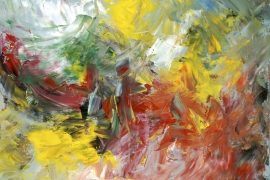 Ontluikende lente | Acryl op doek | 100x80 cm | € 900