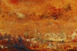 Herfstbespiegelingen | Acryl op doek | 30x40 cm | € 250